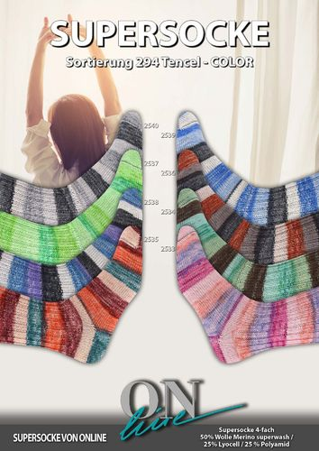 Super Socke Tencel Color Linie 294 Fb